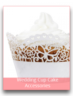 Wedding Cup Cake Accesories