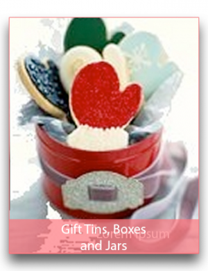 Empty Gift Tins, Boxes and Jars