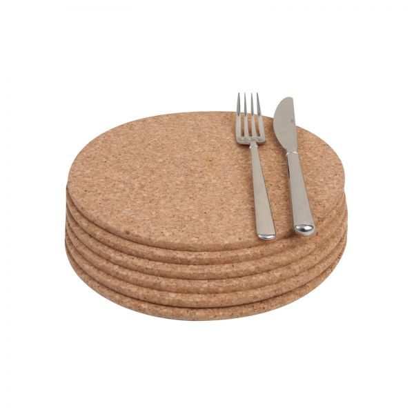 Placemats 6 X Round Table Mats Cork, Placemat For Round Table