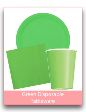 Green Disposable Tableware