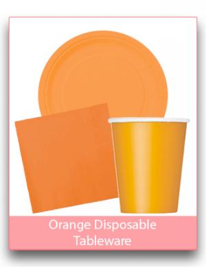 Orange Disposable Tableware