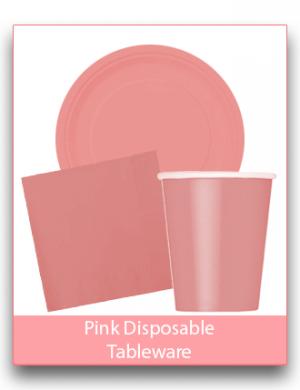 Pink Disposable Tableware