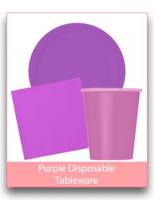 Purple Disposable Tableware