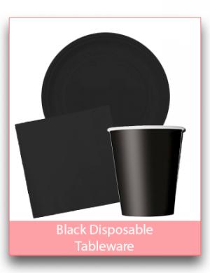 Black Disposable Tableware