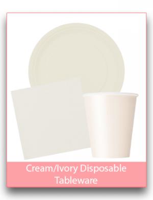 Cream/Ivory Disposable Tableware
