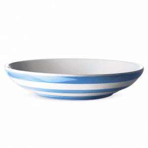 Beautiful blue pasta bowls. Cornishware.