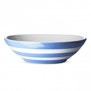 Beautiful blue and white striped seving bowl.