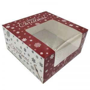 10-inch Christmas Cake Box and Board madeup