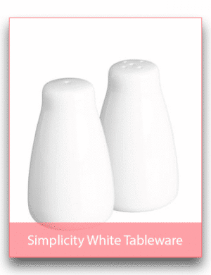 Simplicity White Tableware