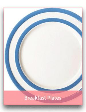 Breakfast/Salad Plates: 18cm to 22cm