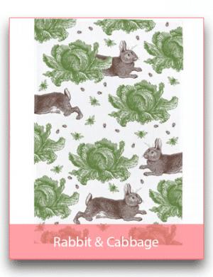 Thornback & Peel: Rabbit & Cabbage Linen Range